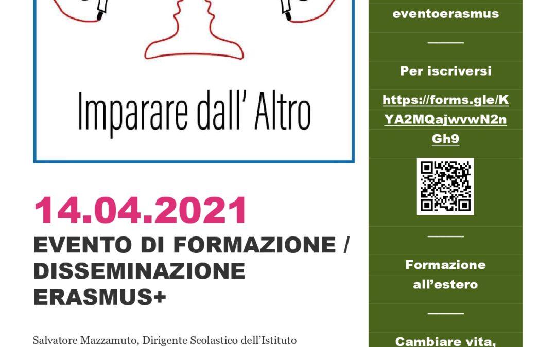 EVENTO DI DISSEMINAZIONE E FORMAZIONE ERASMUS+