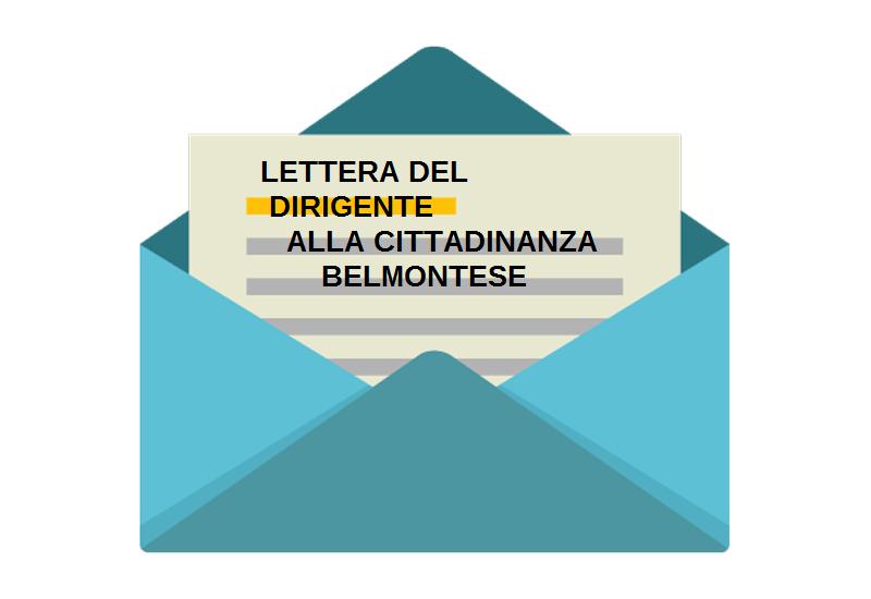 LETTERA DEL DIRIGENTE SCOLASTICO AI CITTADINI BELMONTESI